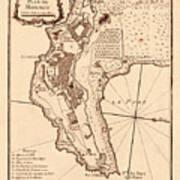 Map Of Monaco 1764 Poster