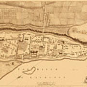 Map Of Montreal 1758 Poster