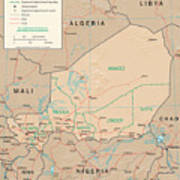 Map Of Niger Poster