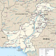 Map Of Pakistan Poster