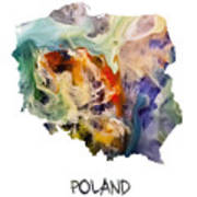 Map Of Poland Original Art Poster