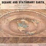 Map Of The Flat Earth Poster