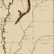 Map Of The Mississippi Riverr 1775 Poster