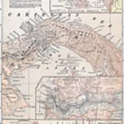 Map: Panama, 1907 Poster