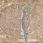 Map Paris Poster