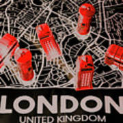 Maps From London Town Poster