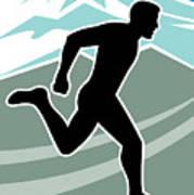 Marathon Runner Poster by Aloysius Patrimonio