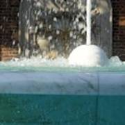 Marble Fountain Shower Poster