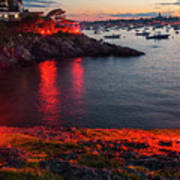 Marblehead Harbor Illumination 2017 Chandler Hovey Poster
