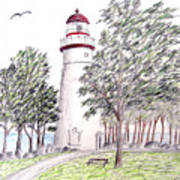 Marblehead Ohio Lighthouse  Poster