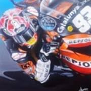 Marc Marquez Elbow Down  Poster