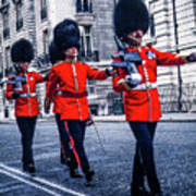 Marching Grenadier Guards Poster