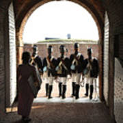 Marching Off On Detail At Fort Mchenry Poster