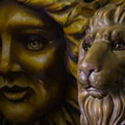 Mardi Gras Lion Poster
