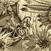 Mardi Gras - New Orleans 3 - Sepia Poster