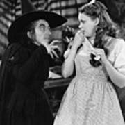 Margaret Hamilton And Judy Garland In The Wizard Of Oz 1939 Poster
