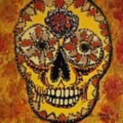 Marigold Skull Poster
