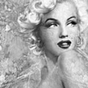 Marilyn Danella Ice Bw Poster