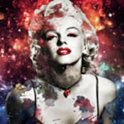 Marilyn Monroe   Colorful  Poster