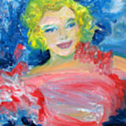 Marilyn Monroe In Pink And Blue Poster