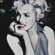 Marilyn Monroe Portrait Poster by Mikayla Ziegler