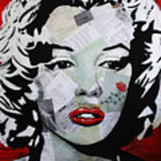 Marilyn Monroe Red Flower Poster