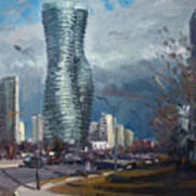 Marilyn Monroe Towers Mississauga Poster