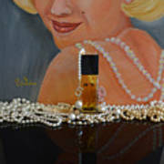 Marilyn With Chanel And Pearls Poster