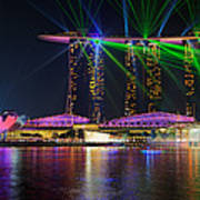Marina Bay Sands Lasershow Poster