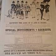Marine Corp Recruiting Poster