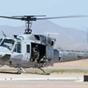 Marine Corps Bell Uh-1n Huey Buno 158559 Mesa Gateway Airport Arizona March 11 2011 Poster