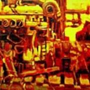 Marine Engine Poster