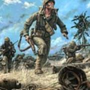 Marines In The Pacific Poster