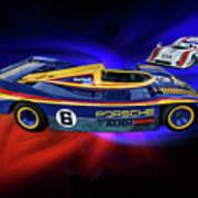Mark Donohue And George Follmer Porsche Poster