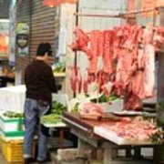Market Butchery Hong Kong Poster