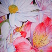 Market Flowers - Watercolor Poster