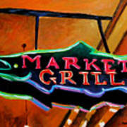 Market Grill Poster
