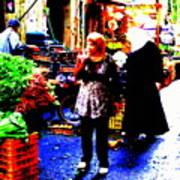 Market Scenes Of Beirut Poster
