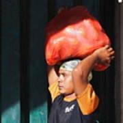 Market Trader In Bali Poster