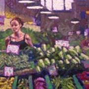 Market Veggie Vendor Poster