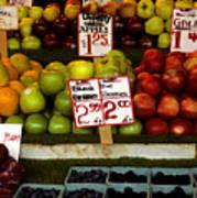 Marketplace Fruit Poster