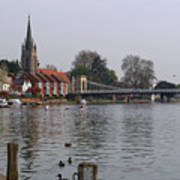 Marlow By The River Thames Poster