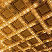 Marquee Lights On Theater Ceiling Poster