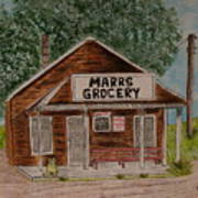 Marrs Country Grocery Store Poster