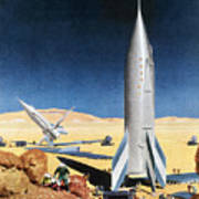Mars Mission, 1950s Poster