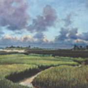 Marsh Dawn Poster