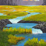 Marsh River Original Painting Poster