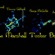 Marshall Tucker Winterland 1975 #19 Enhanced In Cosmicolors With Text Poster