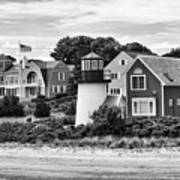 Hyannis Lighthouse Bw Poster