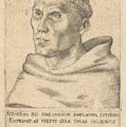 Martin Luther As An Augustinian Monk Poster
